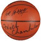 Wilt Chamberlain Bill Russell Signed Spalding Basketball JSA Z50299