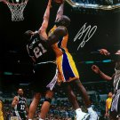 Shaquille O'Neal Signed Los Angeles Lakers 16x20 Dunk VS Spurs Photo BAS