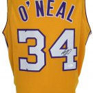 Shaquille O'Neal Signed Custom Yellow Pro-Style Basketball Jersey JSA ITP