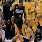 Allen Iverson Signed 8x10 76ers 2001 NBA Finals Step Over Lue Photo JSA ITP