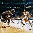 Allen Iverson Signed 16x20 Philadelphia 76ers Photo vs Michael Jordan JSA ITP
