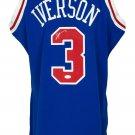 Allen Iverson Signed 76ers 1996-97 Blue M&N Swingman Jersey JSA ITP