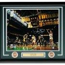 Larry Bird Signed Framed Boston Celtics 16x20 Photo vs Lakers Beckett + Bird