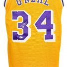 Shaquille O'Neal Signed Custom Yellow Pro-Style Basketball Jersey BAS
