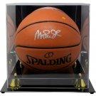 Magic Johnson LA Lakers Signed Spalding Replica NBA Basketball BAS w/ Case