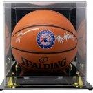 Allen Iverson Signed 76ers Spalding I/O Logo Basketball The Answer JSA w/ Case