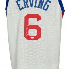 Julius Dr.J Erving Signed Custom White Pro-Style Basketball Jersey JSA WPP602018
