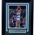 Larry Bird Signed Framed Boston Celtics 8x10 Photo over Magic Johnson BAS