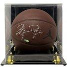Michael Jordan Chicago Bulls Signed Jumpman Basketball UDA w/ Case BAS A64212
