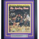 Pistol Pete Maravich Utah Jazz Signed Framed The Sporting News Cover JSA LOA