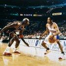 Allen Iverson Signed 16x20 Philadelphia 76ers Photo vs Jordan JSA ITP