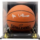 Zion Williamson Pelicans Signed Spalding I/O NBA Basketball Fanatics w/ Case