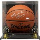 Kobe Bryant Lakers Signed Spalding Replica Basketball w/ Case Panini PA39250