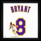 Kobe Bryant Framed 20x20 Los Angeles Lakers White #8 Jersey Photo