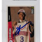 Allen Iverson Signed 96-97 Collectors Choice #301 76ers RC Card BAS