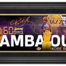 Kobe Bryant Framed 10x30 Los Angeles Lakers Mamba Out Collage
