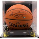 Kobe Bryant Lakers Signed Spalding Replica Basketball w/ Case Panini PA36241