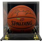 Michael Jordan Chicago Bulls Signed Spalding I/O Basketball UDA UAS07713 w/ Case