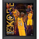 Kobe Bryant Framed 15x17 Los Angeles Lakers 60 Point Finale Collage