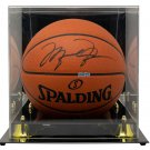 Michael Jordan Bulls Signed Spalding Official Basketball UDA SHO41944 w/ Case