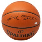 Kobe Bryant LA Lakers Signed Spalding Replica Basketball w/ Case Panini PA34009