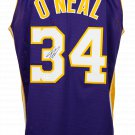 Shaquille O'Neal Signed Custom Purple Pro-Style Jersey Kobe 24 Patch BAS