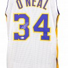 Shaquille O'Neal Signed Custom White Pro-Style Basketball Jersey w/ 24 Patch BAS