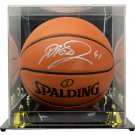Dirk Nowitzki Dallas Mavericks Signed Spalding Rep Basketball w/ Case Fanatics