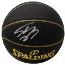 Shaquille O'Neal Lakers Signed Black Replica Spalding Basketball BAS