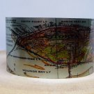 Astoria Oregon Map Cuff Bracelet. Vintage print cuff for her or him.