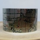 Bozeman Montana Map Cuff Bracelet. Vintage print map cuff for her or him.