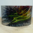 Fractal Rainbow Cuff Bracelet. Print design for her or him.