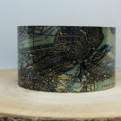 Boston Massachusetts Map Cuff Bracelet. Vintage print cuff for her or him.