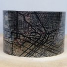 Houston Texas Map Cuff Bracelet. Vintage print cuff for her or him