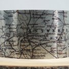 Antwerp Belgium Map Cuff Bracelet by Enliven Natural
