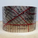Beverly Hills California Map Cuff Bracelet by Enliven Natural
