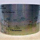 Christmas Michigan Map Cuff Bracelet by Enliven Natural