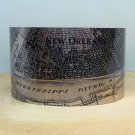 New Orleans Louisiana Map Cuff Bracelet by Enliven Natural