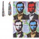 Necktie  Classic Art Abraham Lincoln - Steve Kaufman