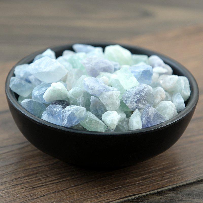 Zi Shi Ying 500g Fluoritum Fluorite Fluorspar Mineral Form of Calcium Fluoride