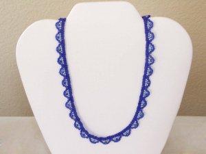 Scallop Necklace Purple and Silver