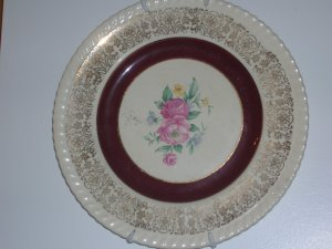 Rose Point Plate - warranted 22 K gold
