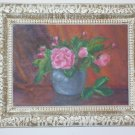 Pink Roses. SIGNED OIL PAINTING ON CANVAS