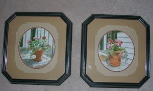 Pink flower picture frame