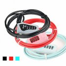 L-03 2M Anti-theft 4 Digits Code Bicycle Cable Lock for Motorcycle MTB Road