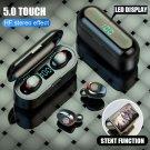 Bluetooth V5.0 Earphone Wireless Earphones Stereo Sport 2000 mAh For iPhone