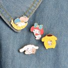 Cute 4pcs/set Kawaii Bunny Puppy My Melody Enamel Pins Collar Hat