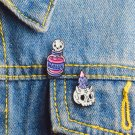Cute 2pcs/set Potion Skeleton and Candle Skeleton Enamel pin Badges