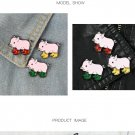 Cute 3pcs/set Pig baby and rain boots Enamel pins Badges Brooches