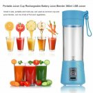 Maheswara Store USA Portable Blender USB Juicer Cup Fruit Mixing Machine Rechargeable Bottle 380ML B